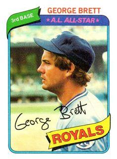 1980 Topps George Brett Kansas City Royals