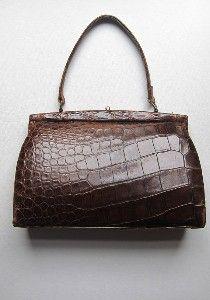 1940s crocodile handbag