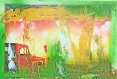 forgotten, little red truck Painting Truck Paint, World Religions, Little Red, Pick Up, Oil On Canvas, Saatchi Art, Original Paintings, My Arts, Battle