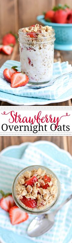 Strawberry Overnight Oats #FuelUpToPlay60 ad @realcalifmilk