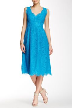 V-Neck Lace Midi Dress by Shoshanna on @nordstrom_rack