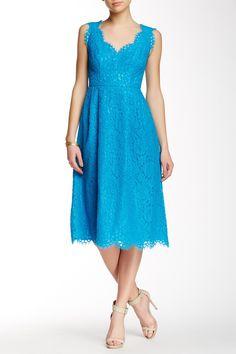 V-Neck Lace Midi Dress by Shoshanna on @nordstrom_rack