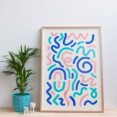 If you missed out on buying anything at #helloplay the remaining pieces are now available in my online store!  Framed artworks, screenprints, pins, patches...and of course the Squiggle Socks! ➰ Check them out at link in profile ☝️
