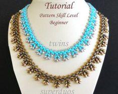 c687e452b6bf DOUBLE VISION beaded bracelet beading tutorials and patterns Collares De  Perlas