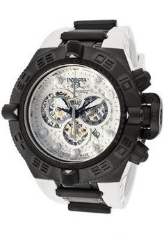 Men's Subaqua Noma IV Chronograph White Textured Dial White Polyurethane - Invicta Watch .