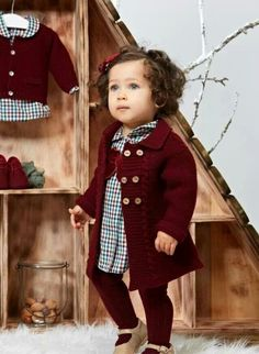Girl clothes with Paz Rodriguez collection Fall Winter 2013 – 2014 - Baby Girl Outfits Outfits Niños, Teen Girl Outfits, Little Girl Outfits, Little Girl Fashion, Toddler Fashion, Toddler Outfits, Kids Fashion, Pinterest Mode, Toddler Girl
