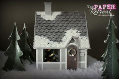 The Paper Retreat: A Country Christmas Village & Tutorial on Homemade Snow! Guest Designer at Lori Whitlock!