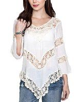Available in Many Colors Hot Trend and most popular style in the Boutique Hot Crochet Trend Long Sleeve Cotton/Poly Blend Can be worn with jeans, leggings, shorts or as a cover-up for the beach Cute Cheap Outfits, Long Tunic Tops, Crochet Blouse, Crochet Top, Shirt Refashion, Boho Tops, Dress Patterns, Blouse Designs, Clothes