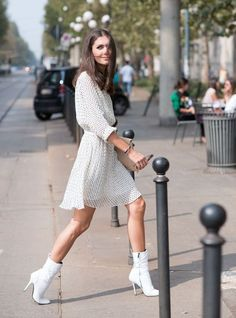 Can't wait much longer to crack out your dresses? Adding ankle boots to everything from floral midis to boho styles strikes the perfect balance between the seasons, for a spring-appropriate twist on your summer wardrobe.