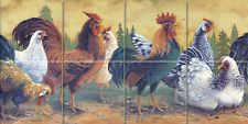 Art Mural Ceramic Countryside Hen Rooster Backsplash Bath Tile #400