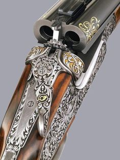 Heavily engraved double rifle, unknown maker