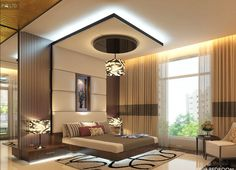 A Nice And Perfect 👌 Masterbed Interior By Contact Us For Visualization Of Your Dream Home. We Will Also Provide Construction Services For your Home. House Ceiling Design, Ceiling Design Living Room, Bedroom False Ceiling Design, Luxury Bedroom Design, Bedroom Furniture Design, Master Bedroom Design, Fall Ceiling Designs Bedroom, Furniture Ideas, Apartment Bedroom Decor