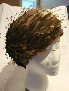Spectacular Vintage Feathered Turban by wearitagainpatty on Etsy, $35.00