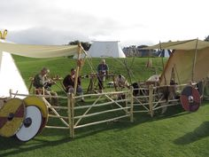 Viðars workshop set up at the Old Sarum show.