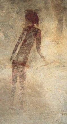 Prehistoric Cave painting done 35000 years ago Ancient Mysteries, Ancient Artifacts, Ancient History, Art History, Paleolithic Art, Stone Age Art, Art Rupestre, Cave Drawings, Art Ancien
