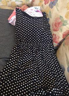 Sukienka w groszki r. M/L Dresses, Fashion, Vestidos, Moda, Fashion Styles, Dress, Dressers, Fashion Illustrations, Flower Girl Dress
