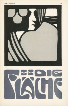 Die Fläche (The surface), featuring illustration and design by Josef Hoffmann, Koloman Moser and Alfred Roller, 1903/4. Featuring art, posters, books and print products, it was published in Vienna by Felician Baron Myrbach