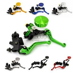 """56.99$  Buy now - http://alid04.worldwells.pw/go.php?t=32425763727 - """"7/8"""""""" 22mm Universal Motorcycle Hydraulic Brake Master Cylinder Clutch Reservoir Levers Set For Kawasaki ninja 250 r 300"""" 56.99$"""