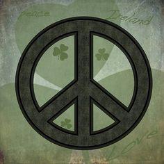 Peace Love Ireland - by Grimalkin Studio / Kandy Hurley  #peace #love #Ireland @grimalkinart