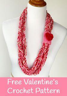 Free Valentine's Day Crochet Pattern - Skinny Scarf crochet pattern - FREE crochet pattern by Little Monkeys Design - great beginner crochet project.