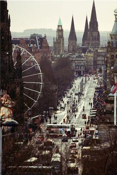 Princes Street in Edinburgh, Scotland