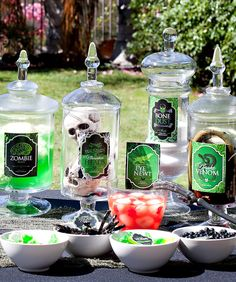 Spells and Potions Halloween: Creepy Jars & Candy Labels {Free Printables} for apothecary jars
