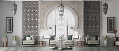 Modern Moroccan Decor, Moroccan Interiors, Moroccan Design, Moroccan Style, Marocco Interior, Arabic Decor, Islamic Decor, Bar Restaurant Design, Resort Interior