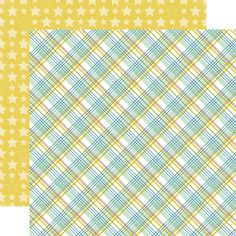Echo Park - Bundle of Joy New Addition Collection - Boy - 12 x 12 Double Sided Paper - Baby Boy Plaid at Scrapbook.com
