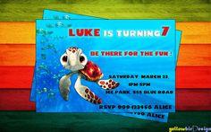 Squirt  Finding Nemo Printable Birthday by yellowbirdesign on Etsy, $10.00