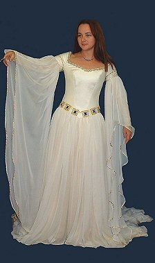 Wedding dresses period on pinterest medieval celtic and for Medieval style wedding dress