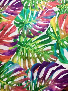 HOJAS de Palma TROPICAL algodón Palma Hoja Material de la tela   Etsy