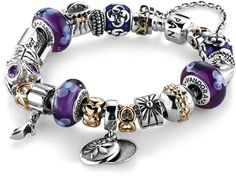 Another completed Pandora bracelet idea.  This one is called Glamour Girl. Again - cute but impractical.