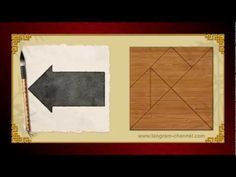 Tangram Arrow 5 - Tangram puzzle #33 - Providing teachers and pupils with tangram puzzle activities