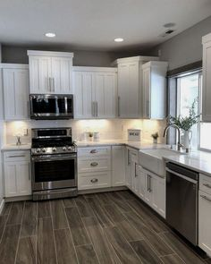 11 Pretty White Kitchen Design And Decor Ideas For Kitchen. 11 Pretty White Kitchen Design And Decor Ideas For Kitchen - lmolnar. 11 Pretty White Kitchen Design And Decor Ideas For Kitchen - Kitchen Design - lmolnar - Best Design and Decoration You Need Kitchen Redo, Home Decor Kitchen, Kitchen Sinks, White Kitchen Decor, Kitchen Cabinets Decor, Kitchen Island, Rustic Kitchen, Small Farmhouse Kitchen, Corner Cabinets