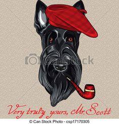 Scottish terriers Clip Art and Stock Illustrations. 151 Scottish ...