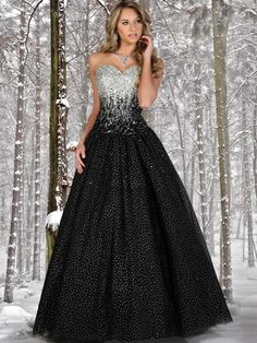 Snow White has nothing on you. This beaded accent prom dress by Disney Forever Enchanted is also available in a pink and silver combination. $550.00