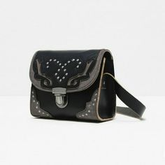 Zara special edition leather studded bag (2966) New with tag. Main material 100% cow leather. Secondary 100% polyester. Lining 100% cotton. Zara Bags Mini Bags