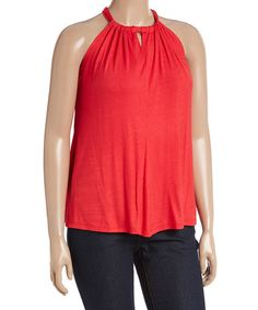 Another great find on #zulily! Red Tie-Back Keyhole Tank - Plus #zulilyfinds