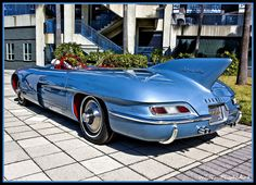 This has to be one of the strangest cars I've ever seen.  1956 Pontiac Club de Mer.