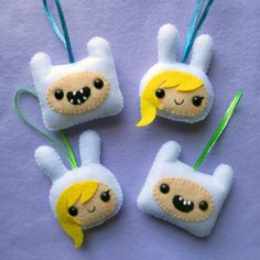 Adventure Time Ornaments by misscoffee
