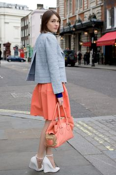 "Ella Catliff, blogger    ""My outfit is by Carven - apart from the shoes which are Kurt Geiger."""