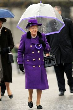 Rain, rain, go away and come back another day?: QEII Purple
