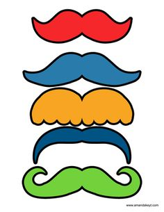 Mustaches from Monsters of Sesame Street Inspired Printable Photo Booth Prop Set
