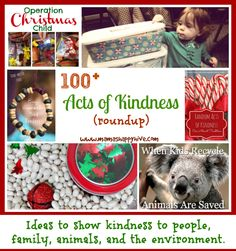 100+ Acts of Kindness ideas and activities for your whole family to enjoy with ways to show kindness to people, your family, animals, and the environment.
