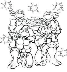 Ninja Turtles T Shirt Party Themes Pinterest Turtle Coloring