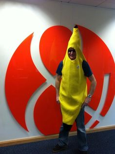 Our Boss often Dresses up as a banana !