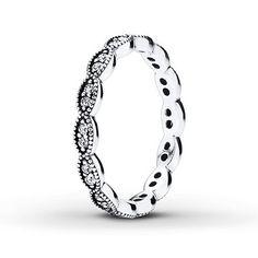 Pandora Ring CZ Leaf Sterling Silver
