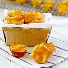 Who doesn't love mac and cheese? These little bite-sized beauties disappear fast when they hit the table at my house. Add your own twist to these mac and cheese bites by adding your favorite flavors. Try adding a cup of peas for a kid-friendly lunchbox treat or did someone say bacon mac and cheese bites and football season? There's a bite of awesomeness for your game day feast!