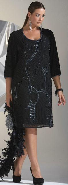 GATSBY HOLLYWOOD DRESS - Dresses - My Size, Plus Sized Women's Fashion & Clothing