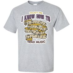 A funny music t-shirt for men and women. It makes a great music gift idea for musicians who can read music!   Music T-Shirt   Graduation Gift Ideas Music @musicreadsavant